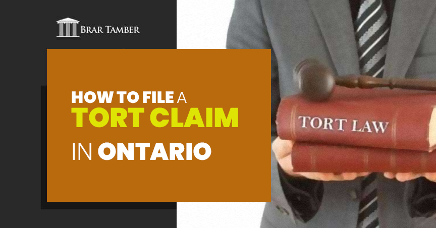 How to File a Tort Claim in Ontario